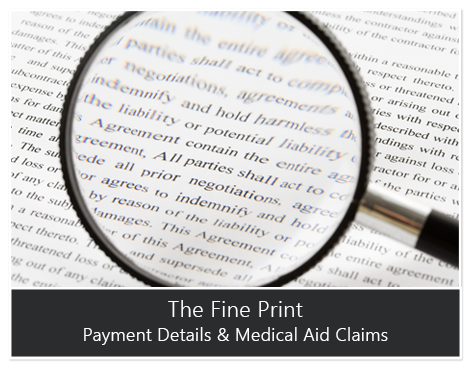 The Fine Print: Payment Details & Medical Aid Claims